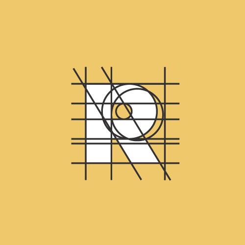 Premium logo with the title 'R: Logo / Type Design'