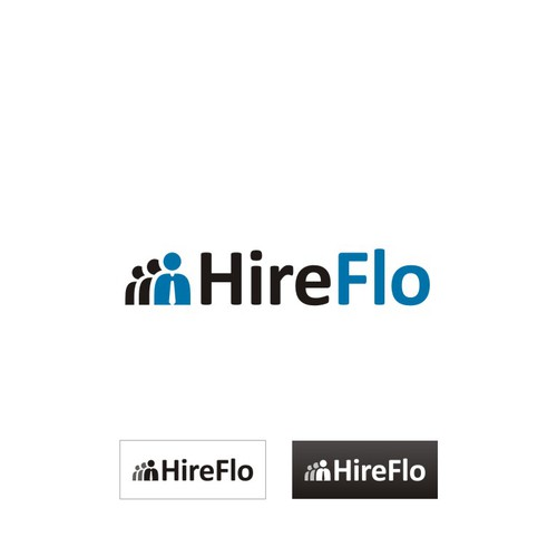 Human resources logo with the title 'Logo for HireFlo'