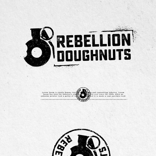Veteran design with the title 'UNUSED PROPOSAL FOR REBELLION DOUGHNUTS'