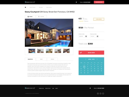 Home website with the title 'Homesuite'