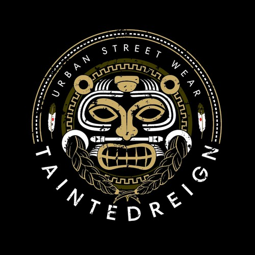 Aztec design with the title 'Logo design for TaintedReign'