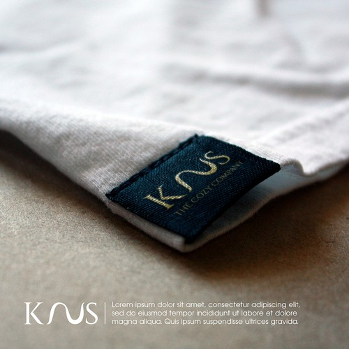 Artist brand with the title 'Brand Identity design for KNUS Co.'