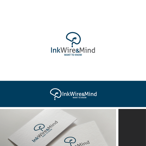 Mindset logo with the title 'Logo design for INKWIREandMIND'