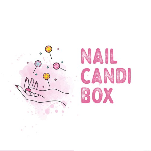 Funky logo with the title 'Fun logo concept for a beauty box'