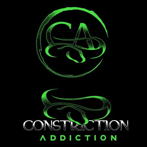 Adventure design with the title 'Constriction Addiction custom logo modify '