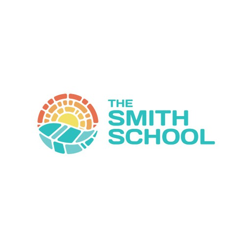 Sunset design with the title 'The Smith School'