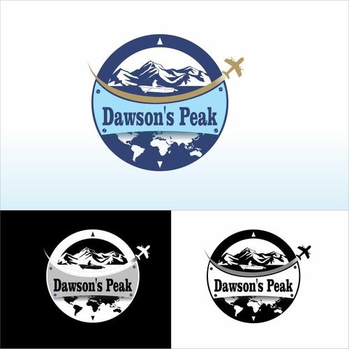 RV logo with the title 'Dawson's Peak Logo'