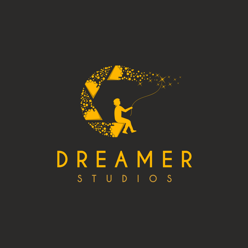 Constellation logo with the title 'Dreamer - Logo for a  wedding photography studio'