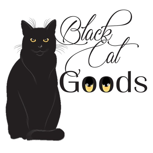 Black cat design with the title 'Logo'