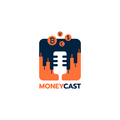 Currency logo with the title 'Moneycast Logo'