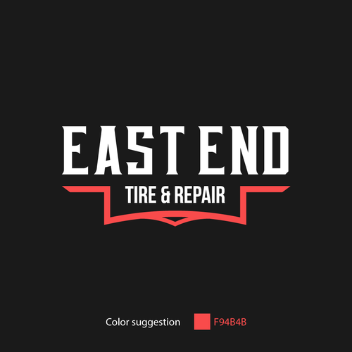 Tire logo with the title 'Concept for a Tire and Repair company'