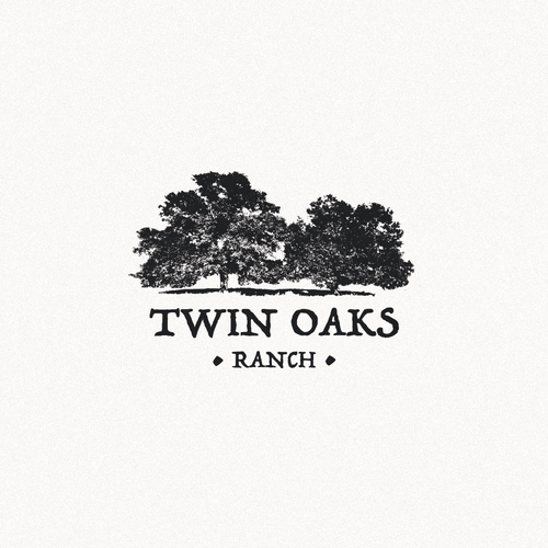 Twin logo with the title 'Twin Oaks Ranch'
