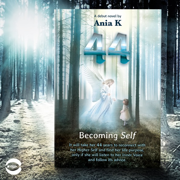 """Spiritual book cover with the title 'Book cover for """"44 – Becoming Self"""" by Ania K'"""