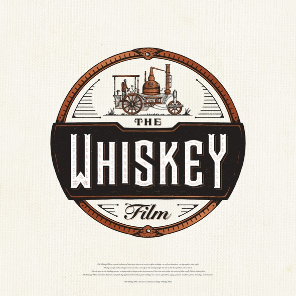 Steampunk design with the title 'The Whiskey Film'