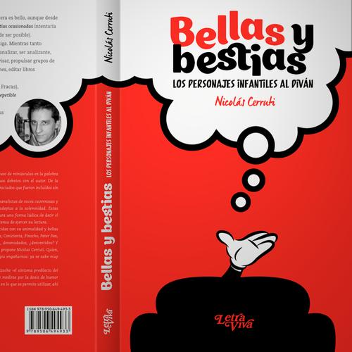 Psychology book cover with the title 'Personajes infantiles al diván'