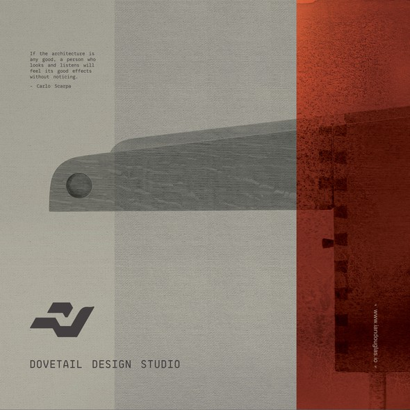 Authentic brand with the title 'Minimalist, meaningful mark for Dovetail Design Studio'