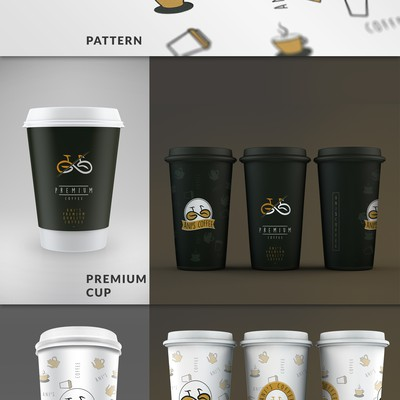 Modern coffee cup design for Ani's Coffee