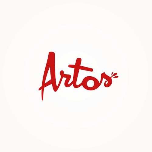 Text logo with the title 'Bold logo concept for Artos'