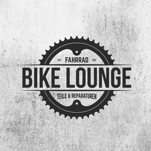 Electric bike logo with the title 'BIKE LOUNGE'