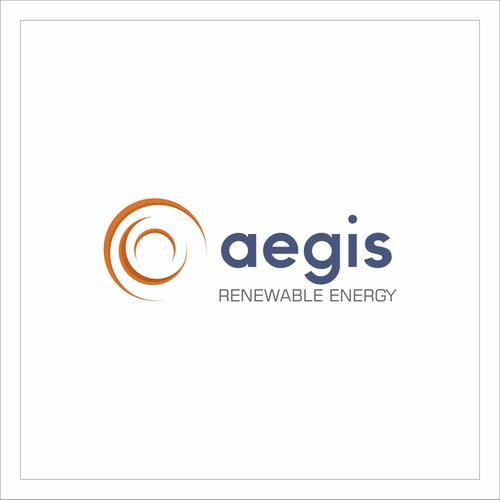 Renewable energy logo with the title 'Logo - Aegis Renewable Energy'