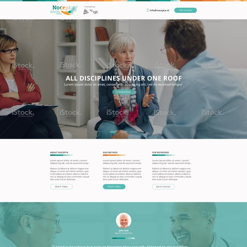 Bootstrap website with the title 'Flat design for medical clinic'