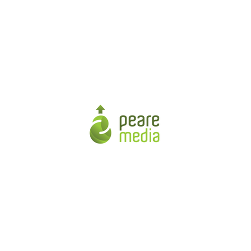 Pear design with the title 'Logo Concept For Media Agency'
