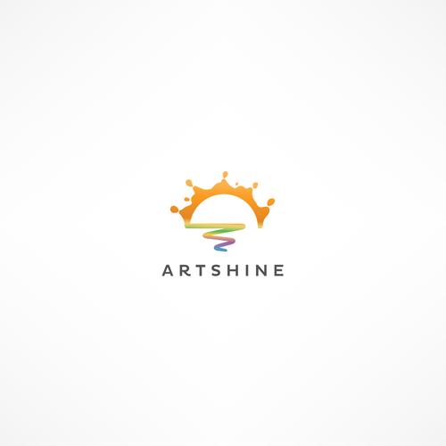 Shine logo with the title 'Logo for visual arts education social enterprise.'