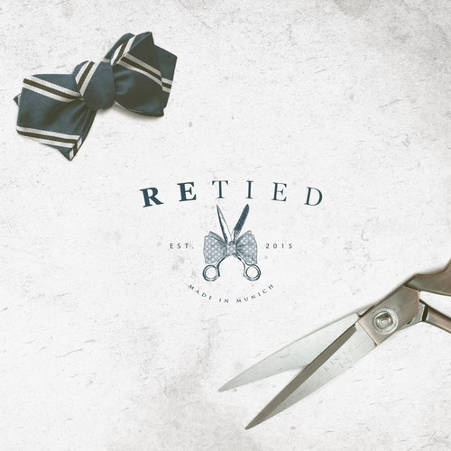 Sketchbook logo with the title 'Create a classy bowtie logo for Re Tied!'