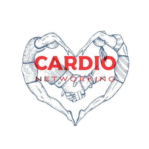 Athletic design with the title 'Cardio Networking logo'