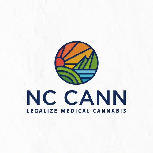 Logo with the title 'Modern Colorfull Logo dessign for North Carolina cannabis company'