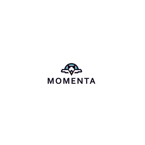 Tracker logo with the title 'Momenta Logo Design'
