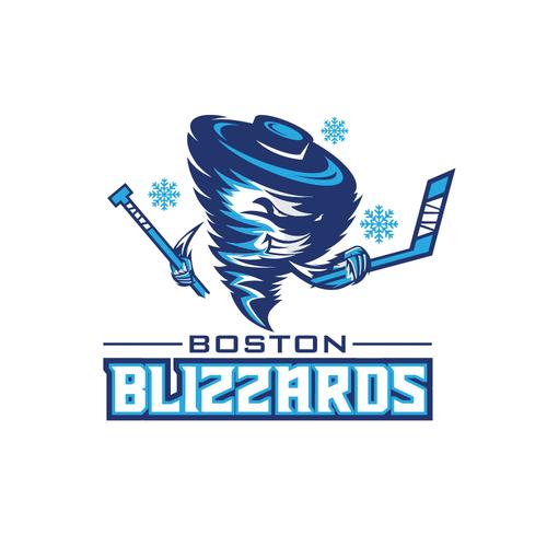 Ice logo with the title 'Boston Blizzards  logo hockey team'