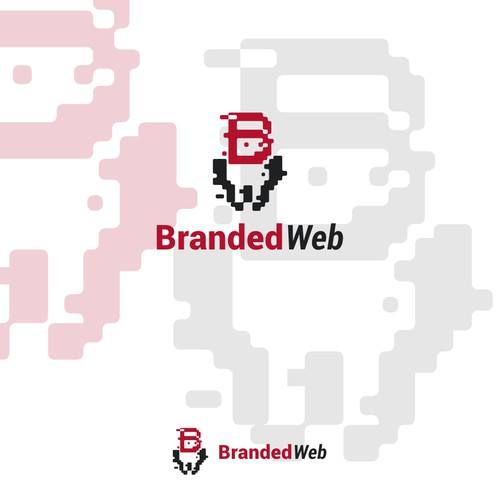 Droid design with the title 'Logo for web-design solution'
