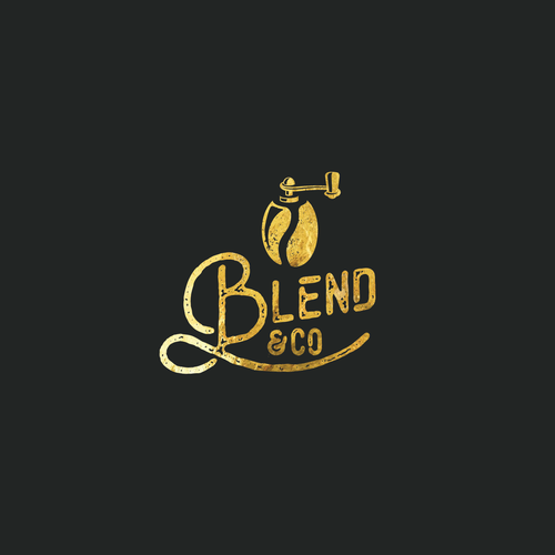 Bean logo with the title 'Logo for coffee kiosk'