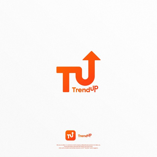 Online shop design with the title 'TrendUp'