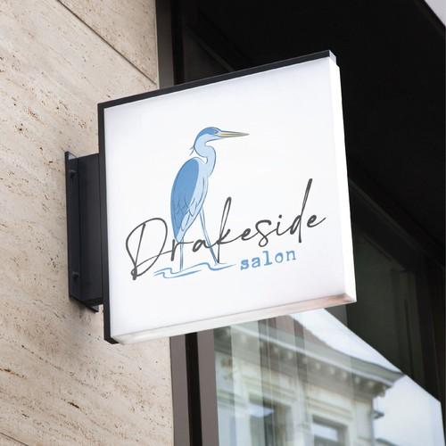 Beauty salon design with the title 'Drakeside Salon'