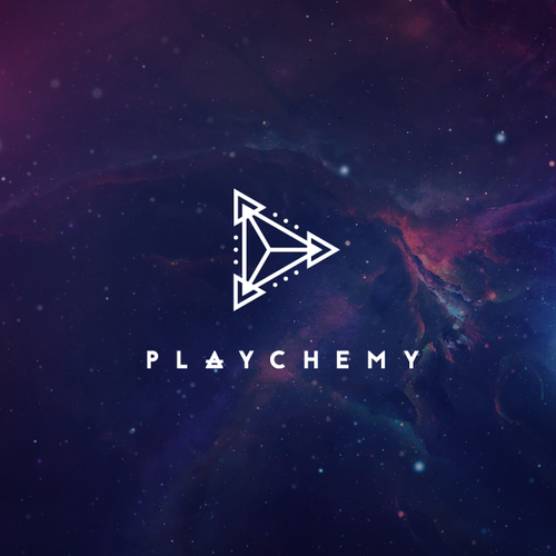 Sacred geometry logo with the title 'Playchemy'