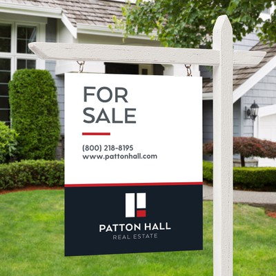 "*GUARANTEED* Real Estate Brokerage needs an ORIGINAL, MODERN, MINIMALIST, ""FOR SALE"" Sign"