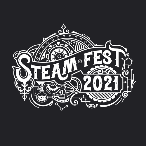 Festival design with the title 'STEAM Fest 2021 T-shirt design'