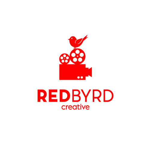 Cardinal logo with the title 'RedByrd creative'