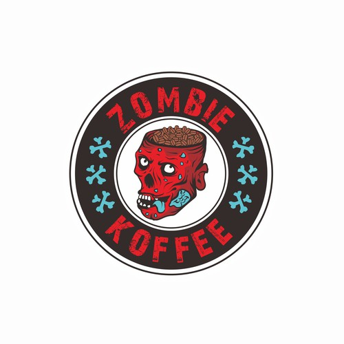 Coffee bar design with the title 'Coffee for Zombie Lover'
