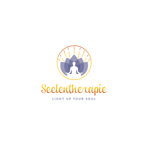 Reiki logo with the title 'Seelentherapie - LIGHT UP YOUR SOUL'