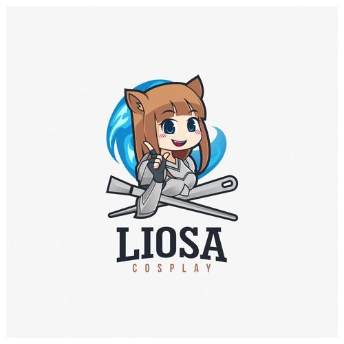 Kawaii design with the title 'Fun Logo Cosplayer Logo Designs'