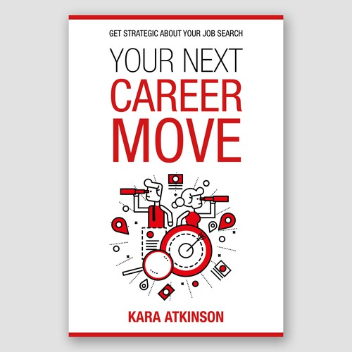 Professional book cover with the title 'Book cover for a professional career guidance book'