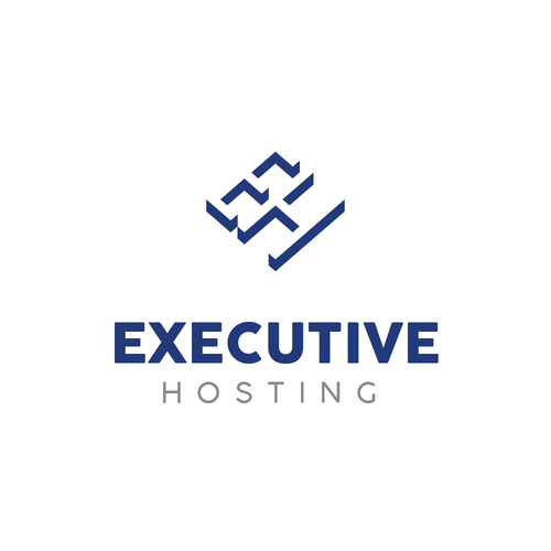 Hosting logo with the title 'executive'