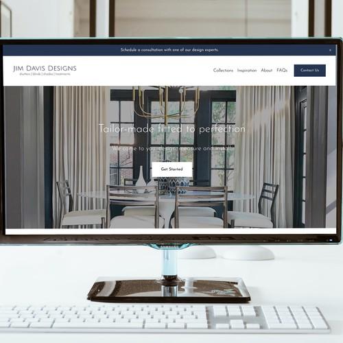 Interior design website with the title 'Jim Davis Designs'