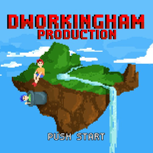 Pixel artwork with the title 'Dworkingham Productions'