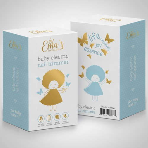 Clear design with the title 'Package design'