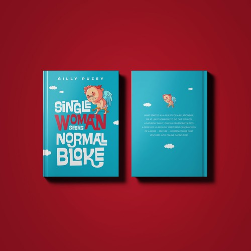 Custom font design with the title 'book cover contest winner '