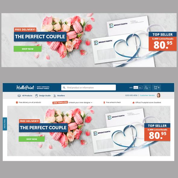 Valentine design with the title 'Valentine's Banner'